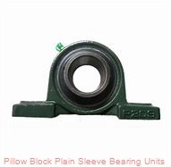 1-1/2 in x 4-11/16 to 5-7/16 in x 1-5/16 in  Dodge P2BLTB10108 Pillow Block Plain Sleeve Bearing Units