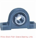 1-3/4 in x 5-1/2 to 6-3/16 in x 1-9/16 in  Dodge P2BLTB10112 Pillow Block Plain Sleeve Bearing Units