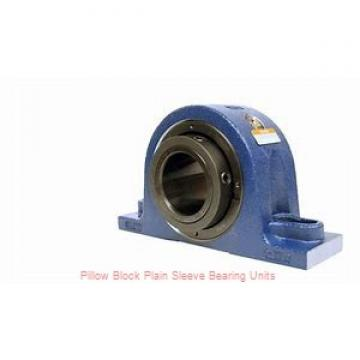 3/4 in x 3-3/8 to 4-3/16 in x 1 in  Dodge P2BLTB7012 Pillow Block Plain Sleeve Bearing Units