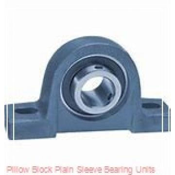 6-1/2 in x 17-3/16 to 18-13/16 in x 13 in  Dodge P4BBAA608 Pillow Block Plain Sleeve Bearing Units