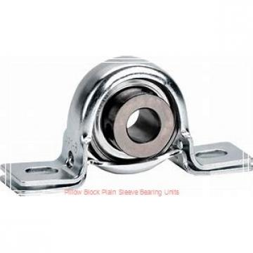 6-1/2 in x 17-3/16 to 18-13/16 in x 13 in  Dodge P4BBZA608 Pillow Block Plain Sleeve Bearing Units